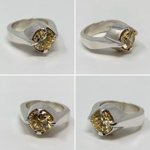 Sterling Silver & Citrine Statement Ring